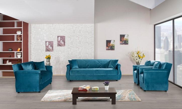 Sofa Couch Set Buket 3+2+1 mit Schlaffunktion