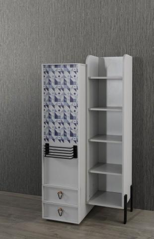 Bücherregal Dynamic mit Tür und Schubladen