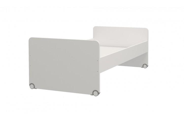 Bett Jugendbett Neo 90x190 Weiß auf Rollen
