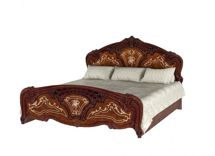Bett 180x200 cm Rozza walnuss klassisch Barockstil
