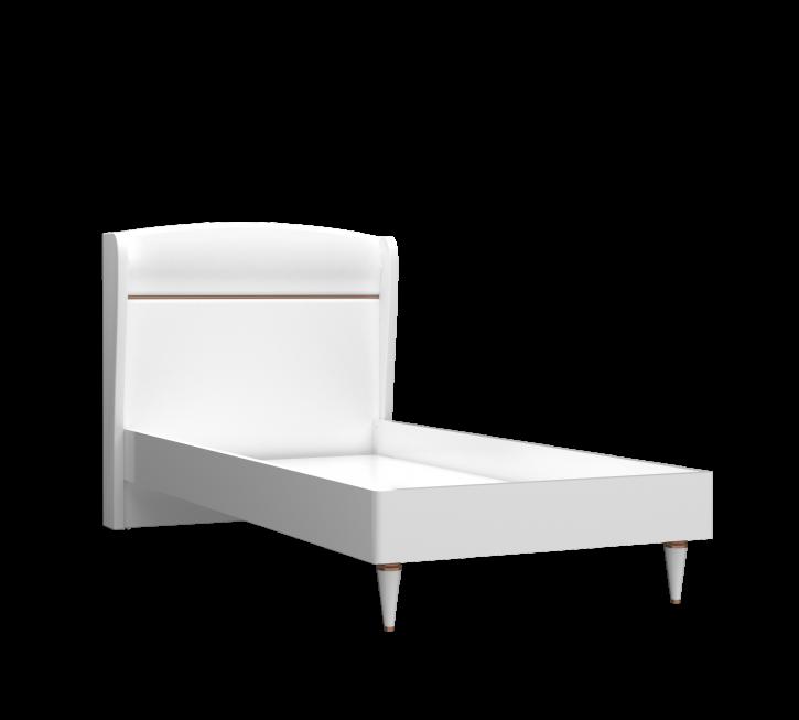Kinderbett Bett 100x200 cm Bellia weiss gold
