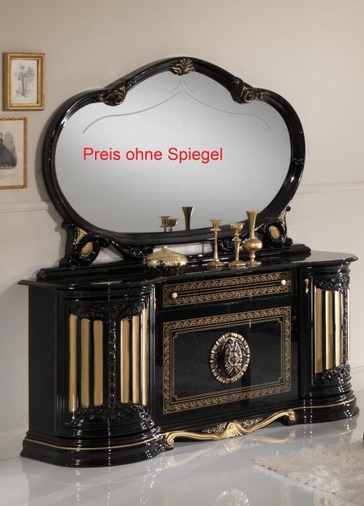 Sidebord/ Buffet Betty in Schwarz Gold Barock Klassik
