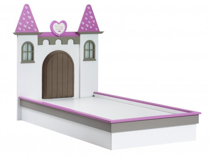 Kinderbett Castle 100x200 cm Mädchenbett Schloss Prinzessin