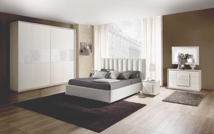 Schlafzimmer Set Dama in Weiß Modern Design