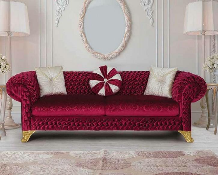 Sofa Örme 3 Rot mit Schlaffunktion