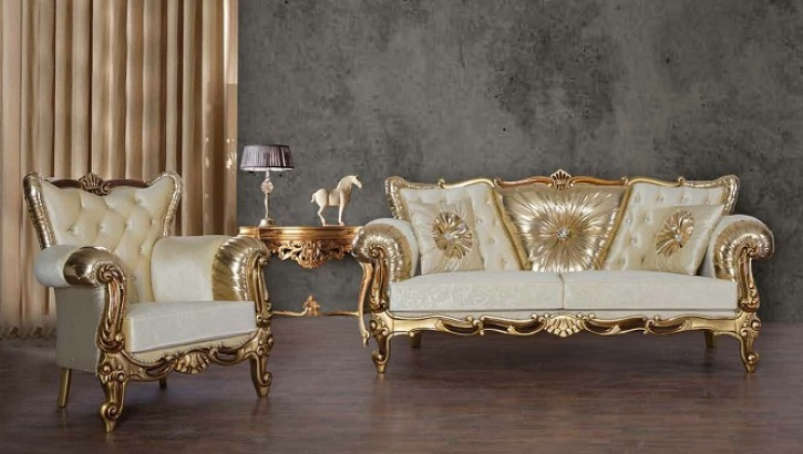 Set Anka 3+2+1 in Beige Gold