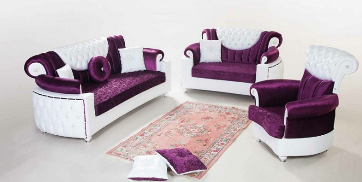 Sofa Couch Set Saray 3+2+1 mit Schlaffunktion
