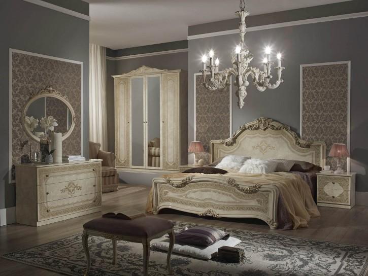 Schlafzimmer Set Elena in Beige Klassisch