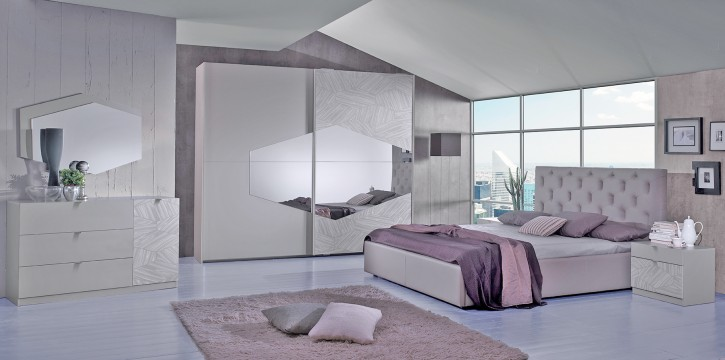 Schlafzimmer Set Firenze in Grau Modern Design