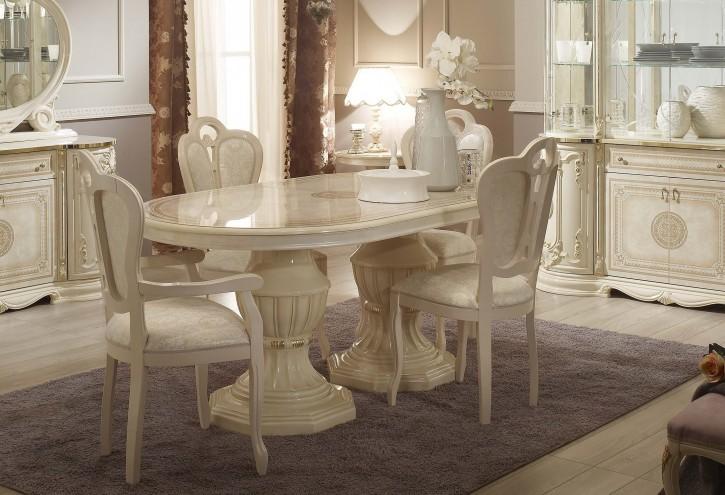 Esstisch Great mit 4 Stühlen in Beige Gold Barock