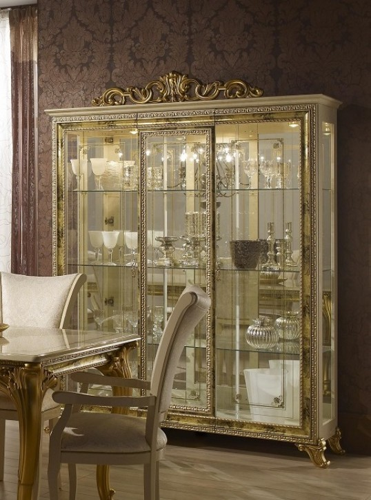 Vitrine Karla in Gold Klassische Design SALE SALE SALE