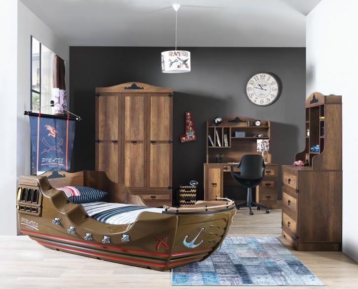 Kinderzimmer Set Capitano mit Schiffsbett