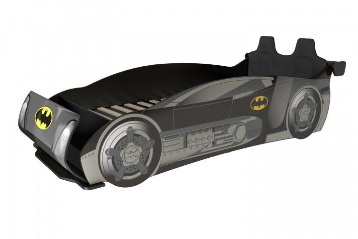 Kinder Autobett im Batman Design inklusive Sportsitze