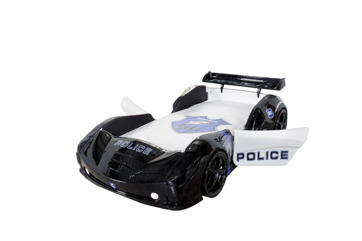 Autobett Kinder Police mit Sound und Sirene
