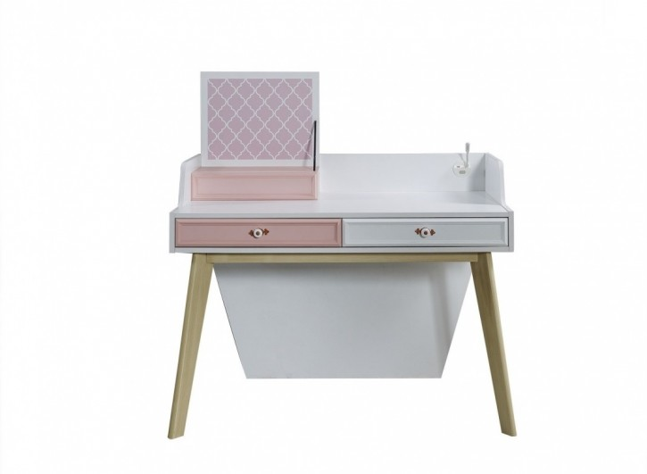 Schreibtisch Diane in weiss rosa