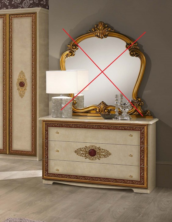 Kommode Agata ohne Spiegel in Beige Gold SALE SALE SALE