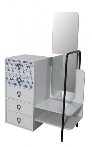 Kommode Dynamic mit Spiegel und Garderobenstange