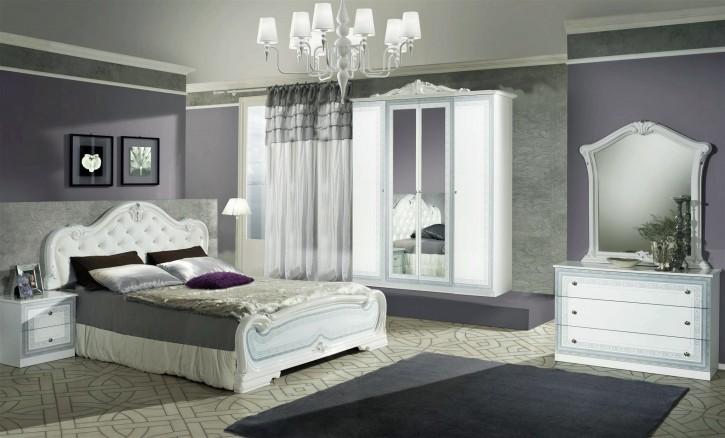 Schlafzimmer Set Lion in Weiss Klassisch Design