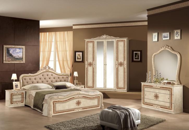 Schlafzimmer Lucy beige walnuss Barock