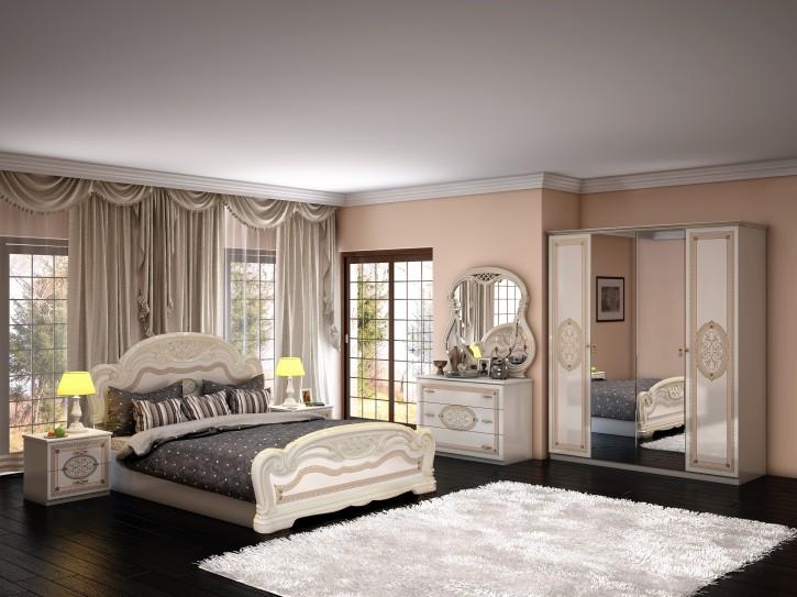 Schlafzimmer Lana in Beige Creme Barock Klassik design