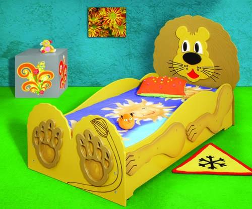 Kinderbett Lion mit Matratze Löwe