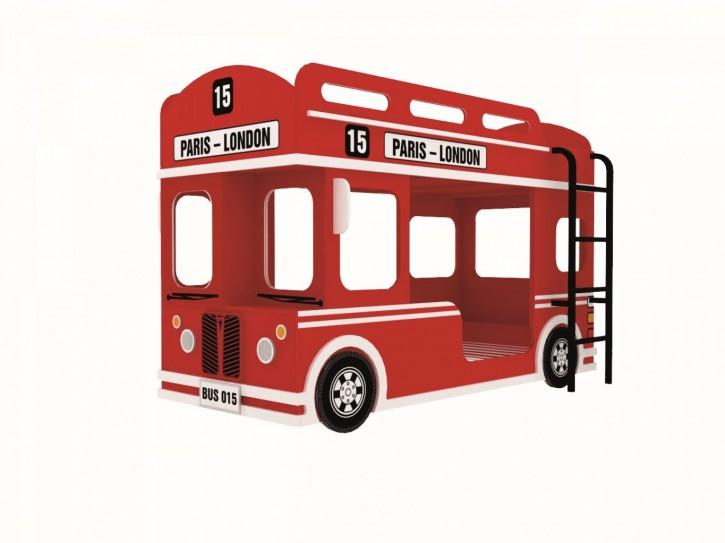 Etagenbett Loni Bus inkl. Leiter und Lattenrost