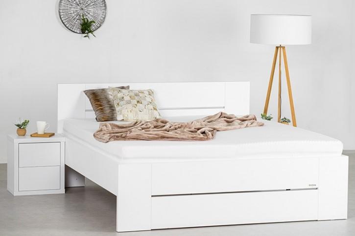 Bett Lorano Landhausstil weiss Pinie massives Holz