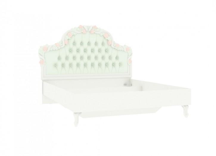 Louise Bett 120 x 200 cm in beige türkis im klassischem Design