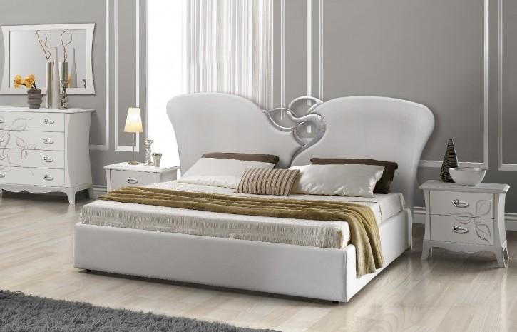 Bett Mery 180x200 cm in Weiß Luxus Design
