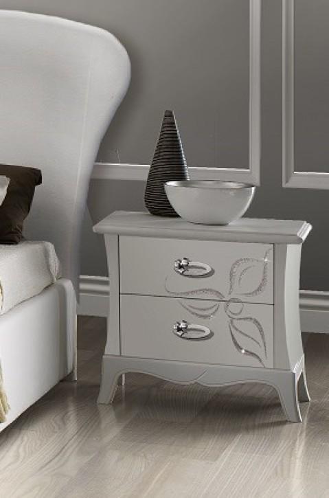 Nachtkonsole Mery in Weiß Luxus Design
