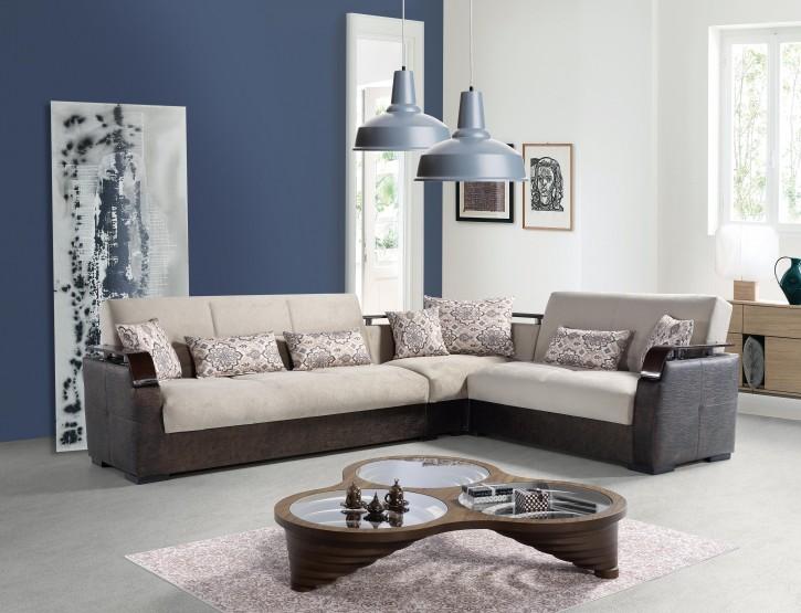 Sofa Eckcouch Set Mina mit Schlaffunktion und Stauraum