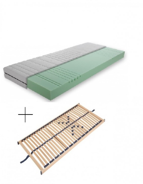 Set Matratze XL Schaum + Lattenrost