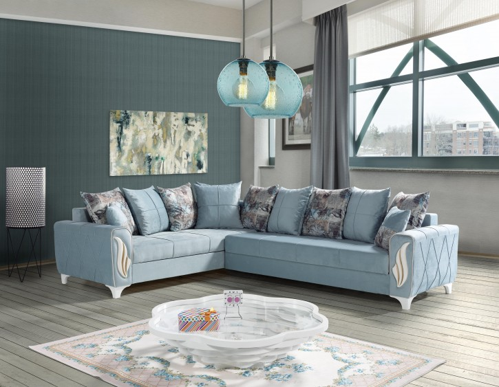Sofa Eckcouch Nisan mit Schlaffunktion und Stauraum