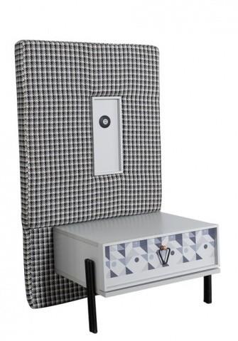Nachtkommode Dynamic mit Schubfach und USB