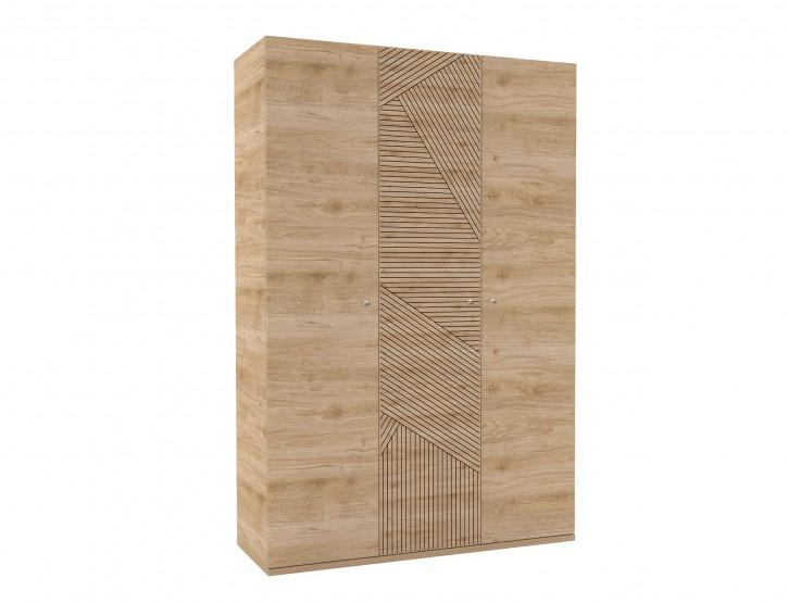 Kleiderschrank Holzoptik Origami 3-türig