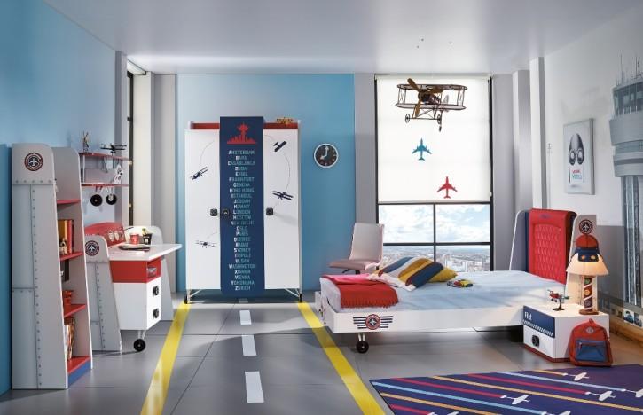 Kinderzimmer Set Flugzeug Pilot 6-teilig komplett