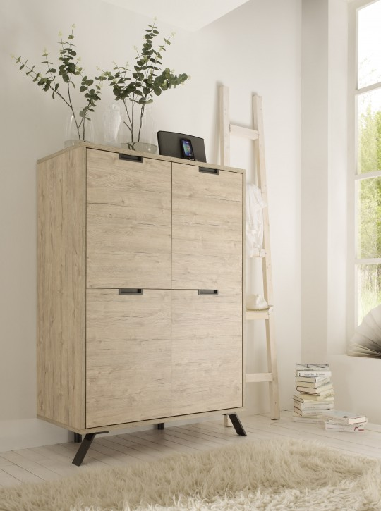 Highboard Pana in eiche Hochschrank