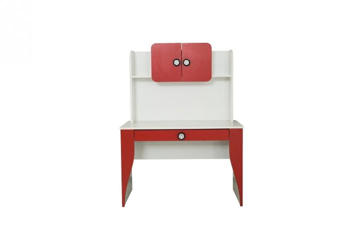 Racer Schreibtisch mit Schublade in Rot Weiß