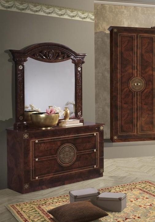 Kommode mit Spiegel Rana walnuss Klassik Barock italienisch