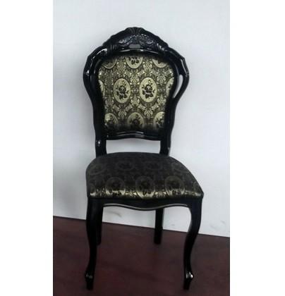 Stuhl Betty in Schwarz Gold Barock