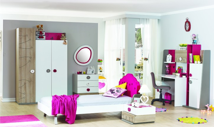 Kinderzimmer Sweety pink weiss