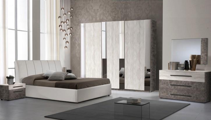 Schlafzimmer Set Lea in Beige / Walnuss