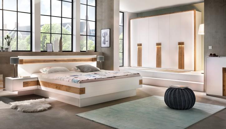 Schlafzimmer Set EOS 180 x 200cm in Weiss Beige
