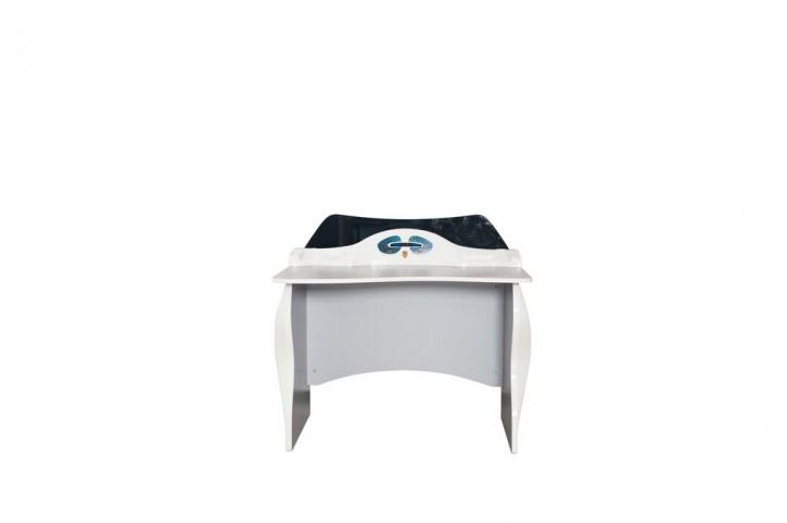 Schreibtisch für Kinderzimmer Garage in Weiß Schwarz