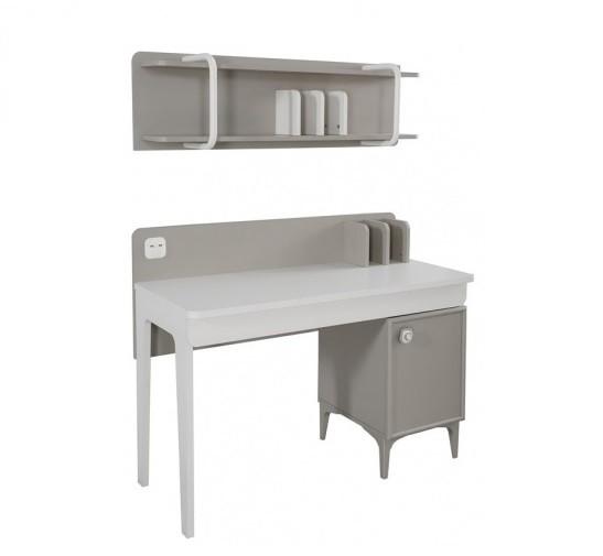 Kinderzimmer Schreibtisch ALFIN mit Wandregal