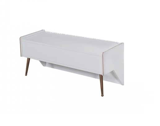 Sitzbank Rosee in Weiss 100cm