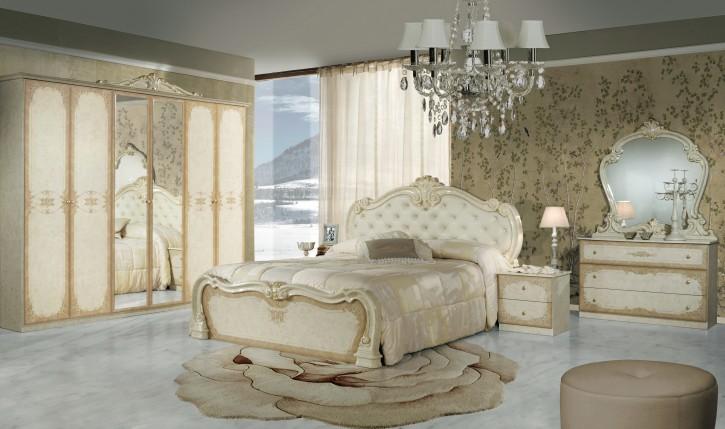 Schlafzimmer Toulouse in Beige Gold Klassisch Design