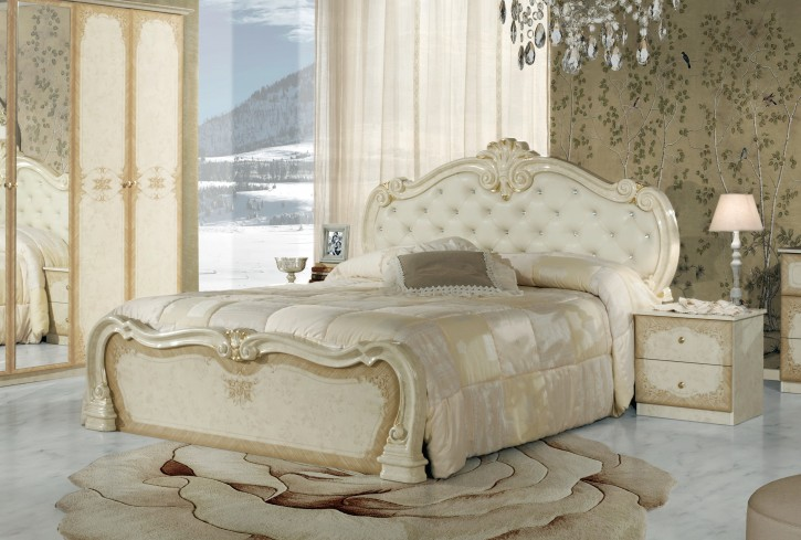 bett tolouse 160x200cm in beige gold barock ohne lattenrost tou b160 bg 1. Black Bedroom Furniture Sets. Home Design Ideas