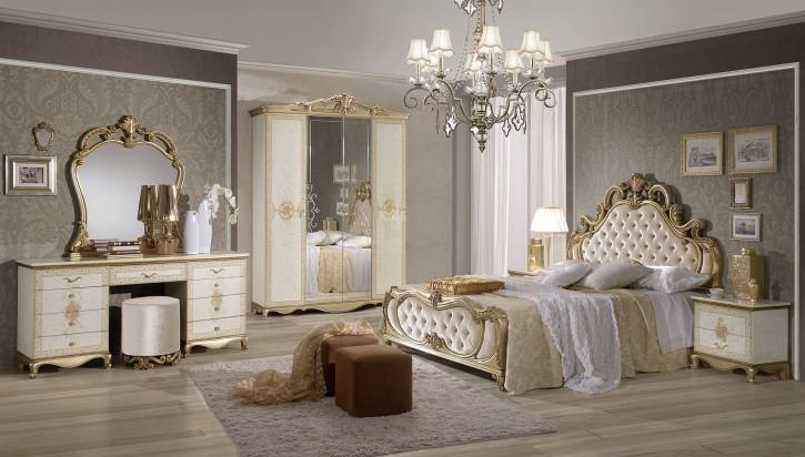Schlafzimmer Tatjana in Beige Gold Luxus Design