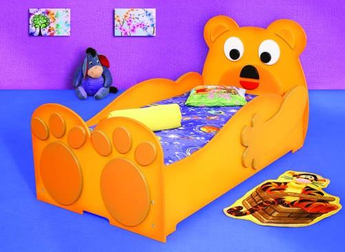 Kinderbett Bett Teddy Bär mit Matratze